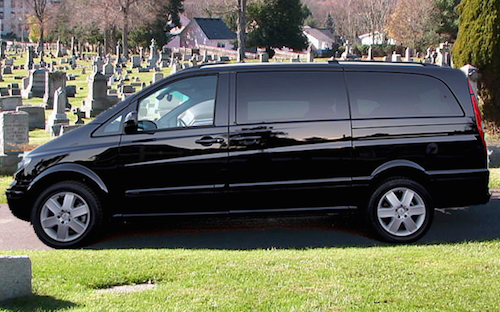 f42d1d2b172e10 Funeral Procession  Hearse and Black Chauffeur Cars   Vans – Funeral ...